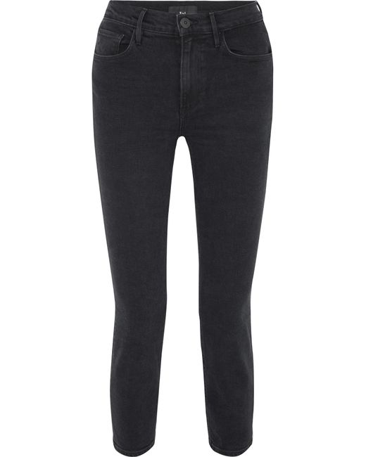 3x1 - Black W4 Colette Cropped High-rise Slim-leg Jeans - Lyst