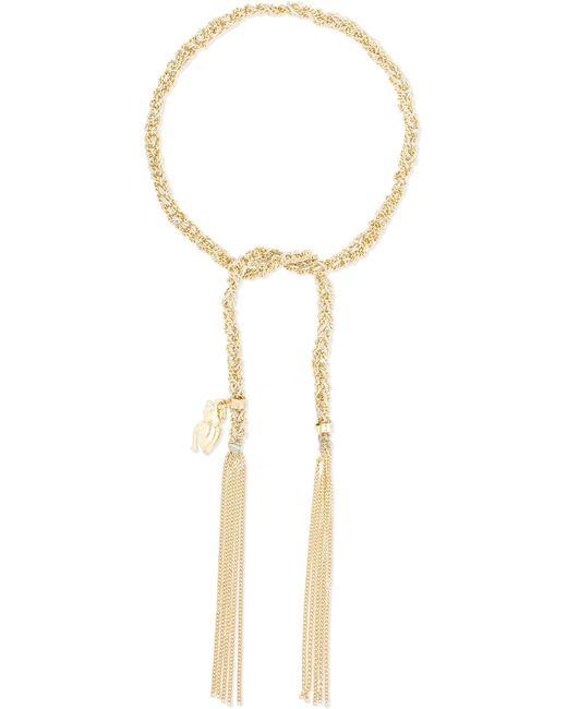 Carolina Bucci | Metallic Strength Lucky 18-karat Gold And Silk Bracelet | Lyst