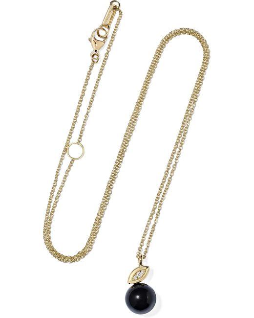 Ippolita - Metallic Nova 18-karat Gold, Onyx And Diamond Necklace - Lyst