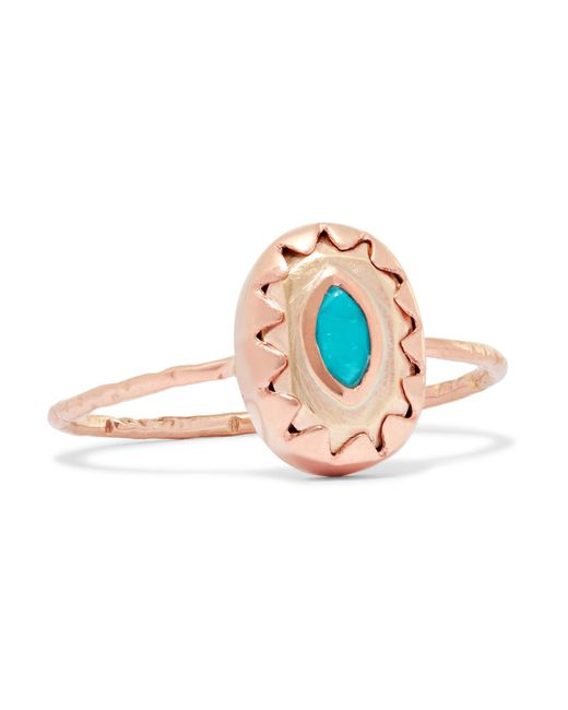 Pascale Monvoisin - Multicolor Montauk 9-karat Rose And Yellow Gold Turquoise Ring - Lyst