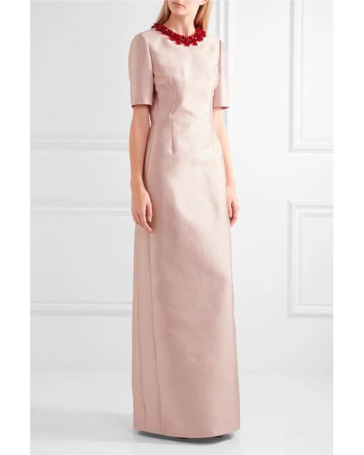 Embellished Wool And Silk-blend Gown - Antique rose Prada 8K55SsF