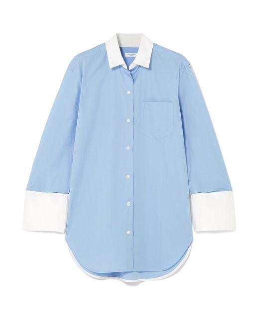 Equipment - Blue Clarke Two-tone Cotton-poplin Shirt - Lyst