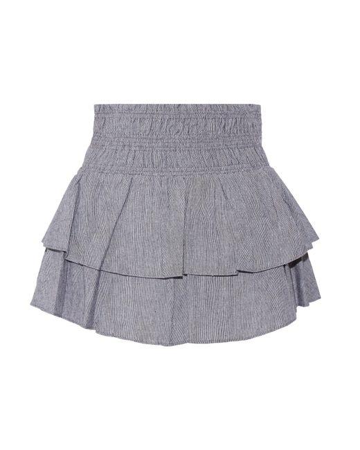 Apiece Apart | Black Analisa Tiered Woven Cotton Mini Skirt | Lyst