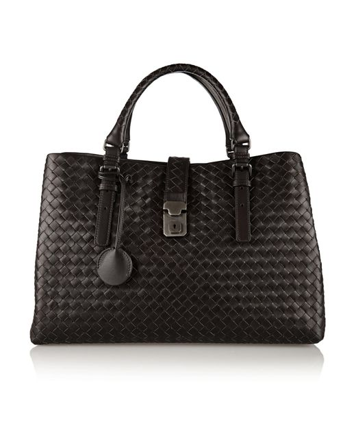 Bottega Veneta | Brown Roma Large Intrecciato Leather Tote | Lyst