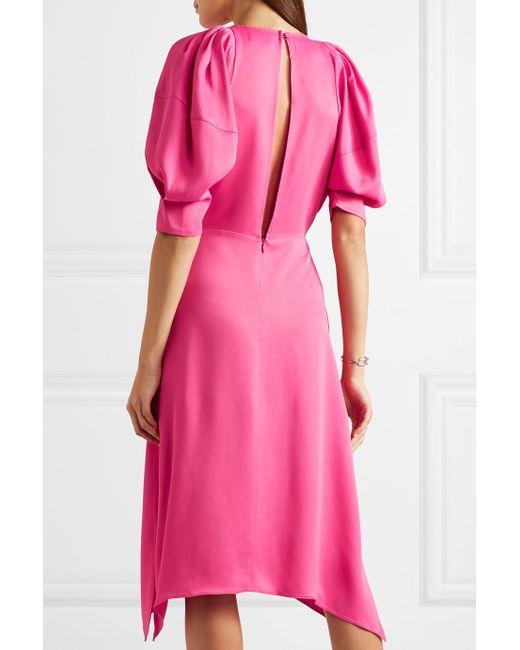 Cynthia satin midi dress Khaite Buy Cheap Pre Order Sale Genuine Clearance Geniue Stockist Enjoy Cheap Online DI01lBIsZ