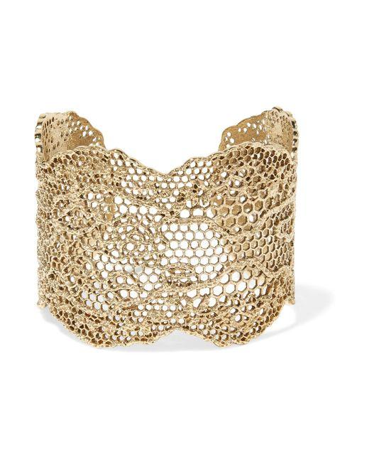 Aurelie Bidermann | Metallic Lace Gold-plated Cuff | Lyst