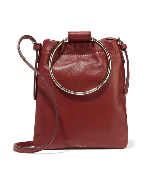 Theory - Red Post Leather Pouch - Lyst