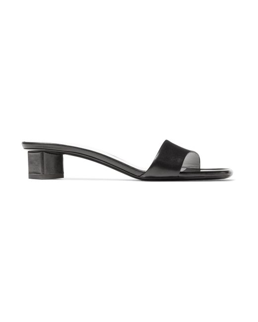 The Row - Black Chocolate Leather Mules - Lyst