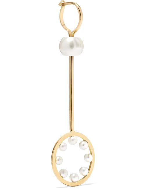 Delfina Delettrez - Metallic 18-karat Gold Pearl Earring - Lyst