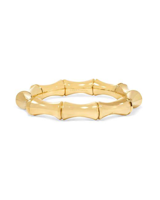 Gucci | Metallic 18-karat Gold Large Bamboo Bracelet | Lyst
