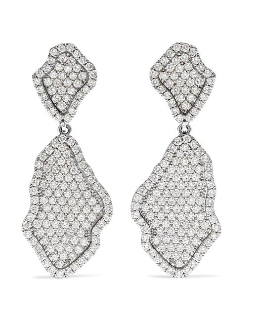 Kimberly Mcdonald - 18-karat White Gold Diamond Earrings - Lyst
