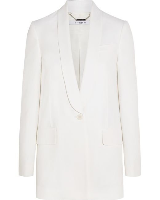 Givenchy | Blazer In White Crepe | Lyst
