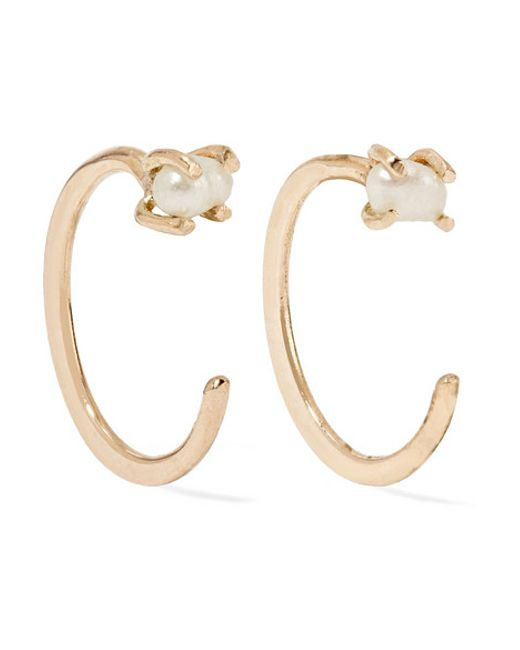 Melissa Joy Manning | Metallic 14-karat Gold Pearl Earrings | Lyst