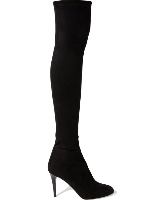 Jimmy Choo | Black Toni Stretch-Suede Over-The-Knee Boots | Lyst