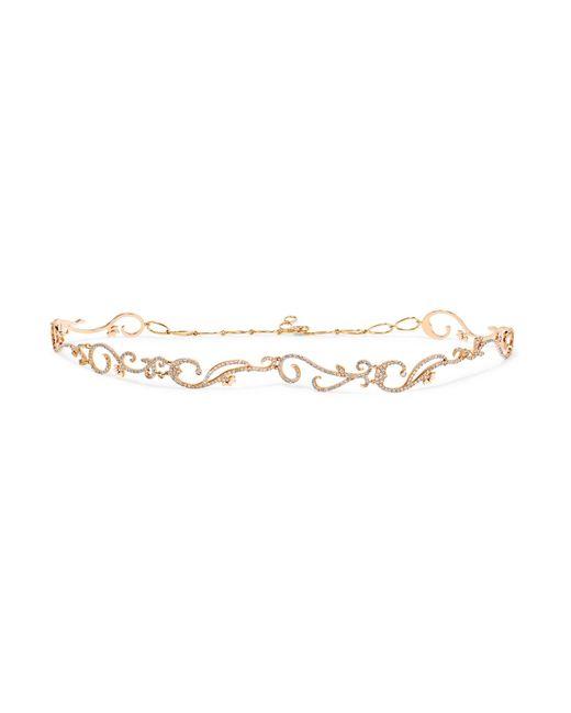 Diane Kordas | Metallic Vine 18-karat Rose Gold Diamond Choker | Lyst