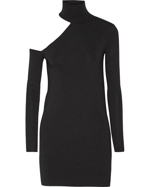 By Malene Birger   Black Ayai Cutout Stretch-knit Turtleneck Sweater   Lyst