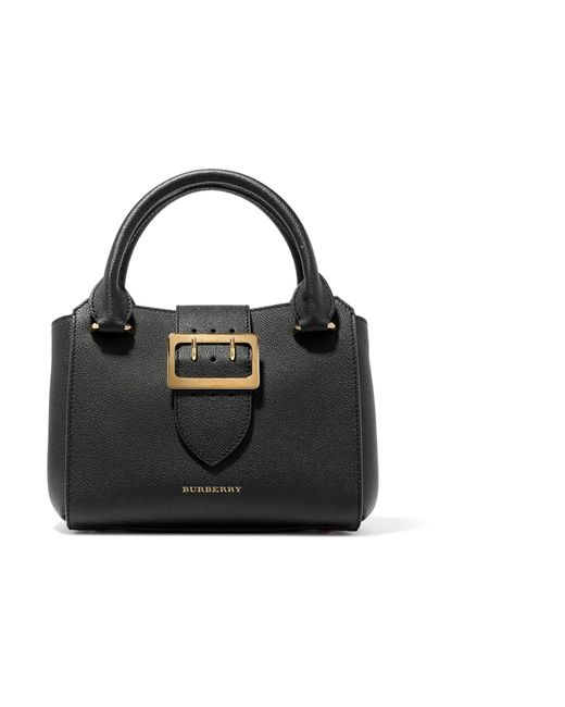 Burberry | Black Textured-leather Tote | Lyst