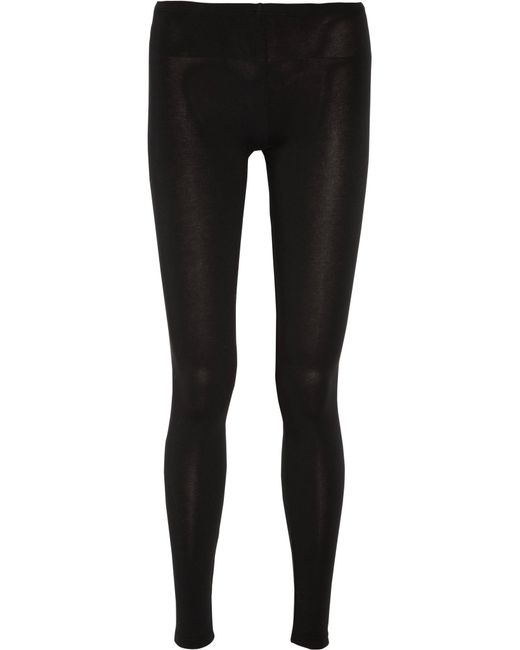 Splendid - Black Stretch-jersey Leggings - Lyst