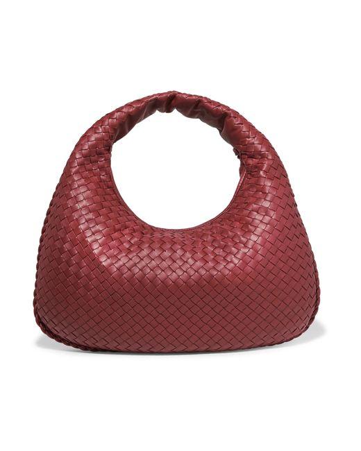 0225a93c0f4d Bottega Veneta - Red Intrecciato Leather Tote - Lyst ...