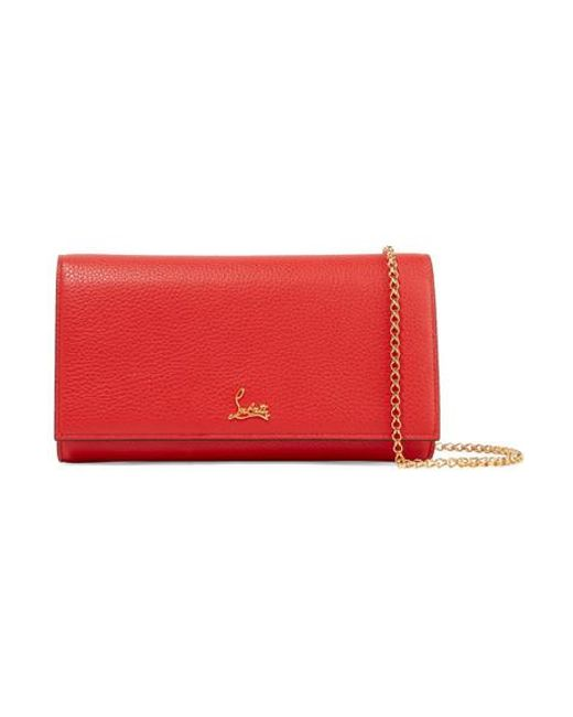 ddd44042110 Christian Louboutin Boudoir Textured-leather Shoulder Bag in Red - Lyst