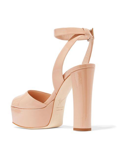 646bd26b8c5b43 ... Giuseppe Zanotti - Multicolor Betty Patent-leather Platform Sandals -  Lyst ...