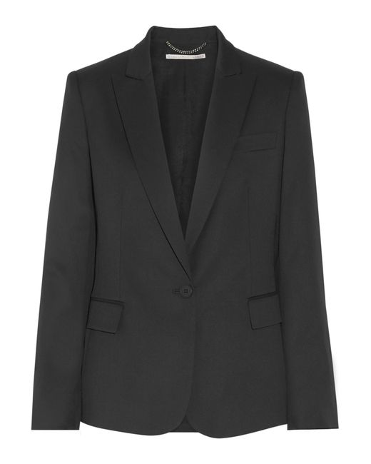 Stella McCartney | Black Ingrid Wool-twill Blazer | Lyst