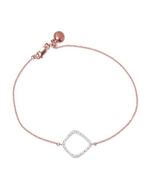 Monica Vinader | Pink Riva Kite Rose Gold Vermeil Diamond Bracelet | Lyst