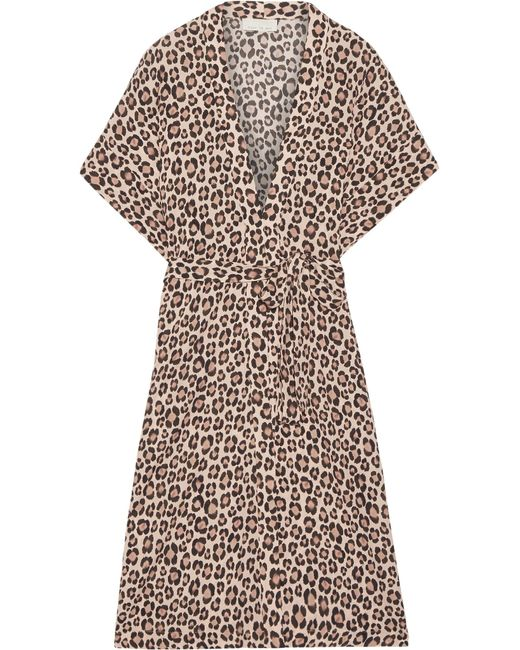 Fleur du Mal | Multicolor Leopard-print Silk-satin Robe | Lyst