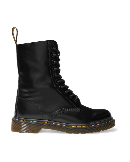 Marc Jacobs - Black + Dr. Martens Leather Ankle Boots - Lyst