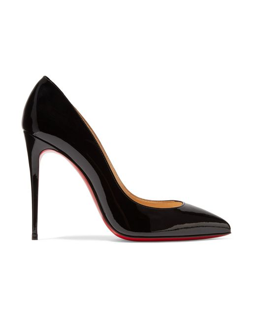 Christian Louboutin | Black Pigalle Follies 100 Patent-leather Pumps | Lyst