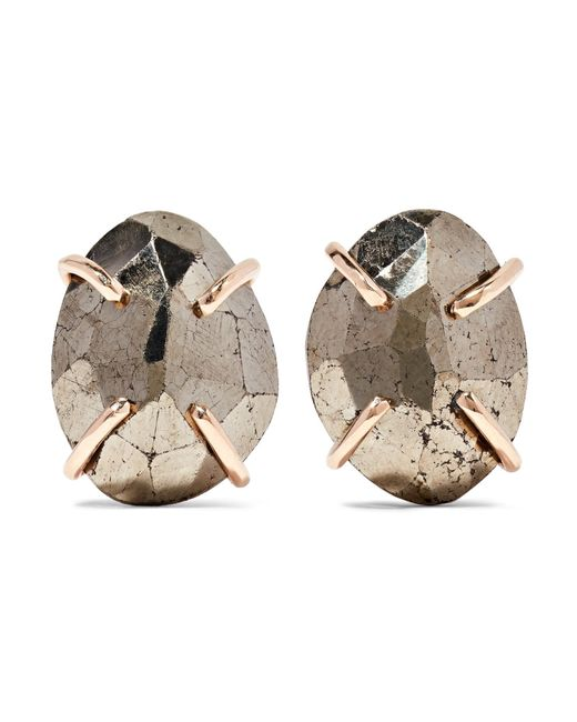 Melissa Joy Manning | Metallic 14-karat Gold Pyrite Earrings | Lyst
