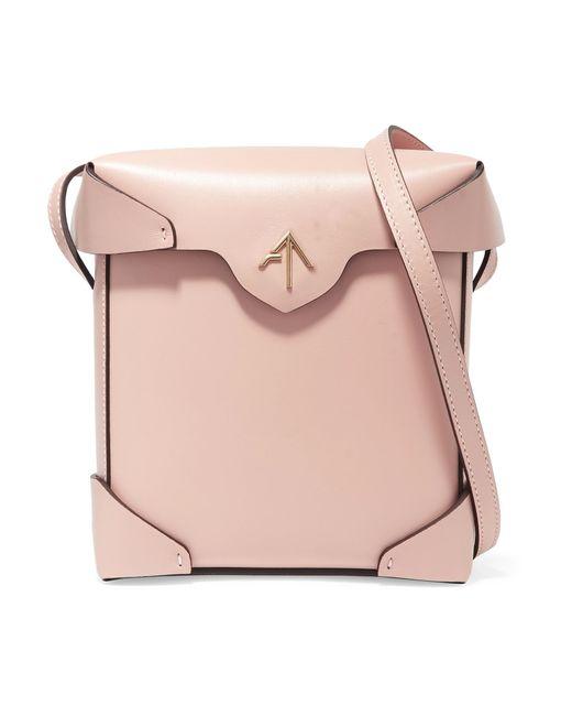 MANU Atelier | Pink Pristine Mini Leather Shoulder Bag | Lyst