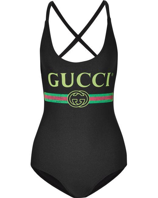 Gucci - Black Swimsuit - Lyst