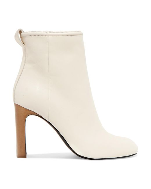 Rag & Bone | White Ellis Leather Ankle Boots | Lyst