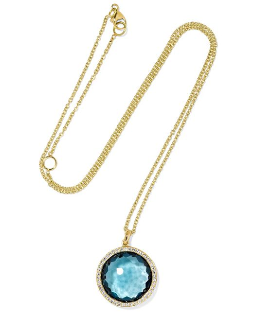 Ippolita | Metallic Rock Candy Lollipop 18-karat Gold, Topaz And Diamond Necklace | Lyst