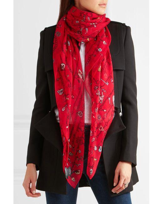 Mcqueen alexander scarf red photo