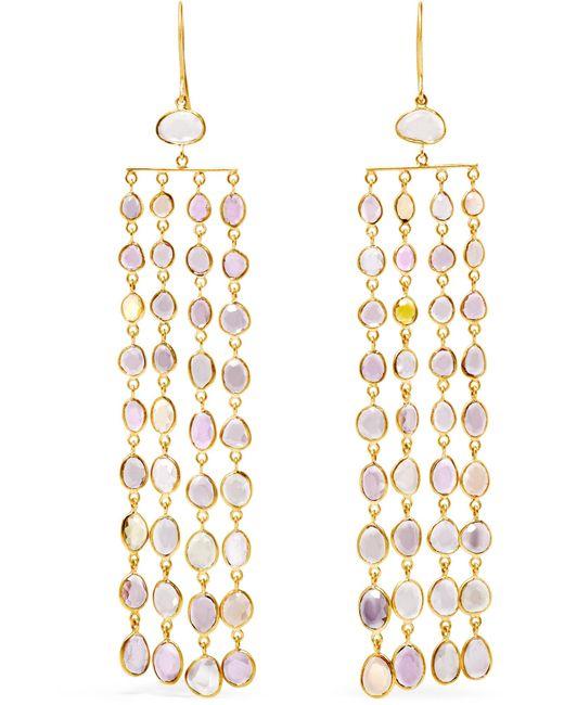 Pippa Small   Metallic 18-karat Gold Sapphire Earrings   Lyst