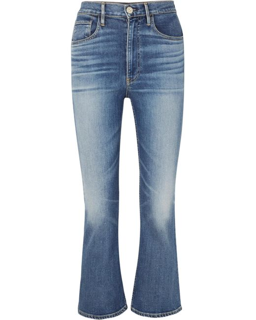 3x1 - Blue W5 Empire Cropped High-rise Flared Jeans - Lyst