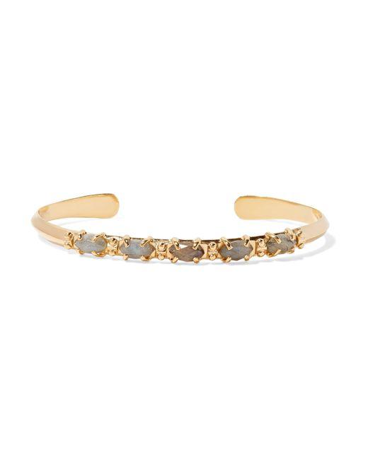 Chan Luu | Metallic Gold-tone Labradorite Cuff | Lyst