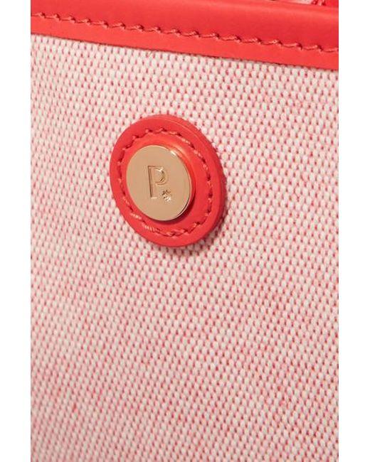 f11597a8692b1 ... Paravel - Red Stowaway Koffer Aus Bedrucktem Canvas Mit Lederbesätzen -  Lyst ...