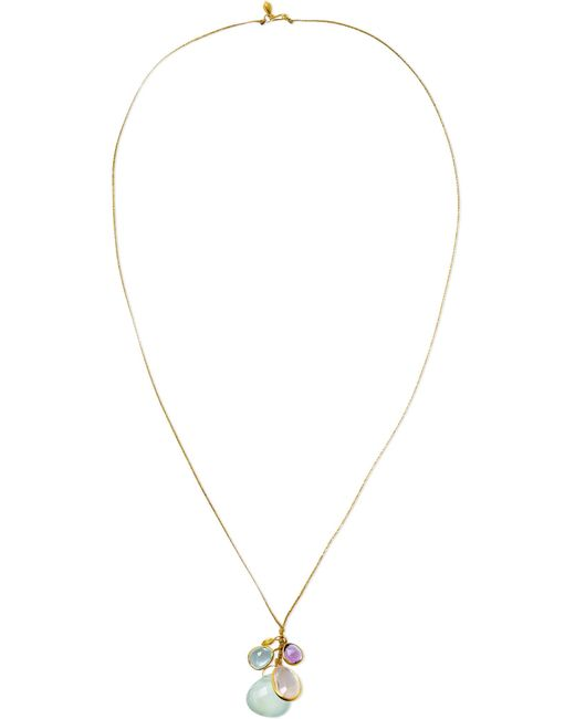 Pippa Small - Metallic 18-karat Gold Multi-stone Necklace Gold One Size - Lyst