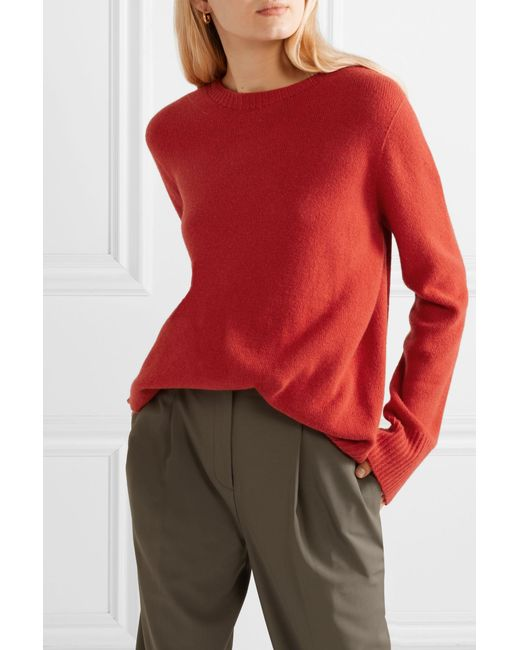 ffb928426c ... The Row - Red Sibel Oversized Wool And Cashmere-blend Sweater - Lyst ...