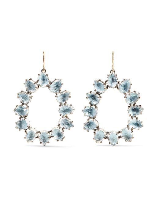 Larkspur & Hawk | Blue Caterina Small Rhodium-dipped Quartz Earrings | Lyst