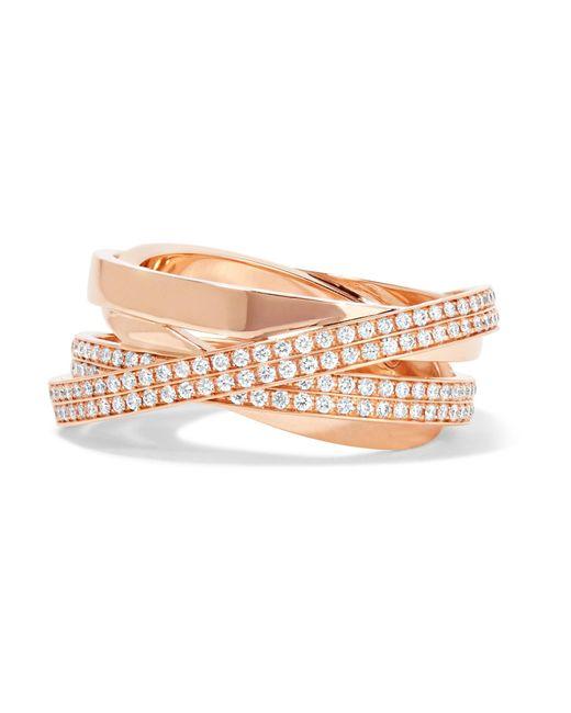 Repossi   Metallic Technical Berbère 18-karat Rose Gold Diamond Ring   Lyst