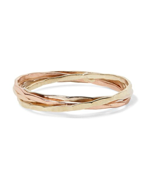 Melissa Joy Manning | Metallic 14-karat Gold Interlocking Ring | Lyst