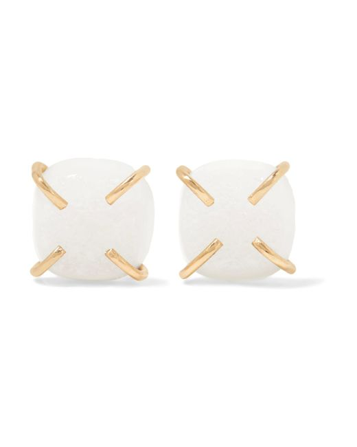 Melissa Joy Manning | Metallic 14-karat Gold Druzy Earrings | Lyst