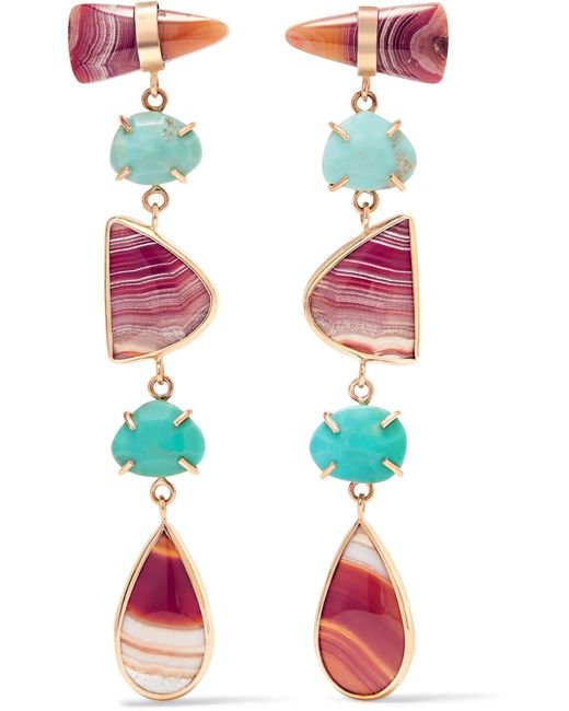 Melissa Joy Manning | Metallic 14-karat Gold Multi-stone Earrings | Lyst