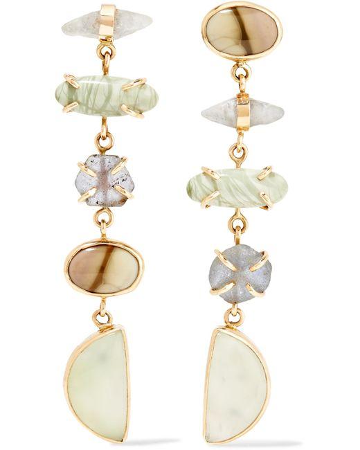 Melissa Joy Manning   Metallic 14-karat Gold And Sterling Silver Multi-stone Earrings   Lyst