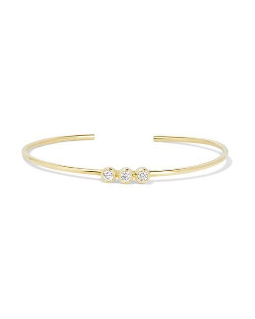 Jennifer Meyer | Metallic 18-karat Gold Diamond Cuff | Lyst