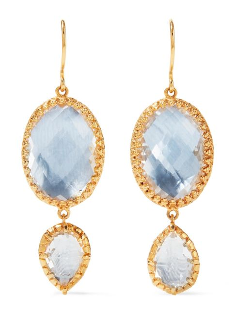 Larkspur & Hawk | Metallic Sadie Gold-dipped Quartz Earrings | Lyst